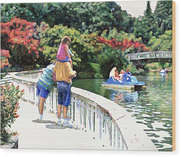 Pullen Park Wood Print