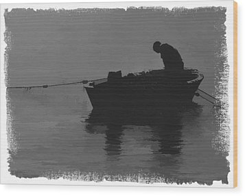 Pulling The Nets 2 Wood Print