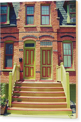Pullman National Monument Row House Wood Print by Kyle Hanson