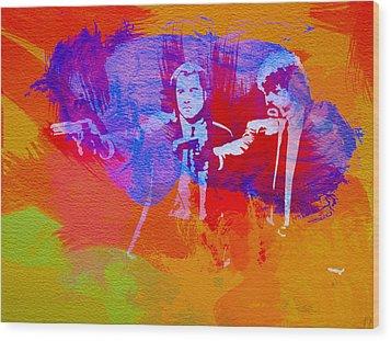 Pulp Fiction 2 Wood Print by Naxart Studio