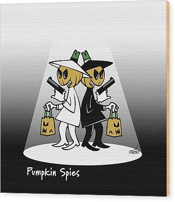 Pumpkin Spies Wood Print