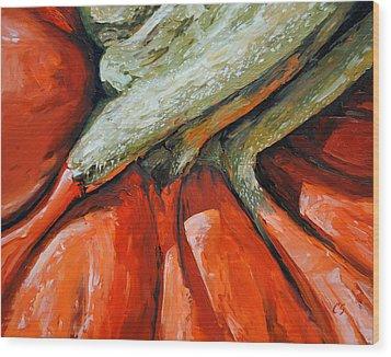 Pumpkin2 Wood Print