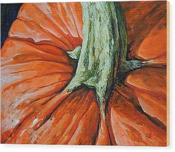 Pumpkin3 Wood Print