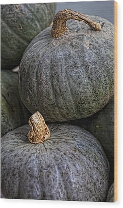 Pumpkins Of Another Color Wood Print