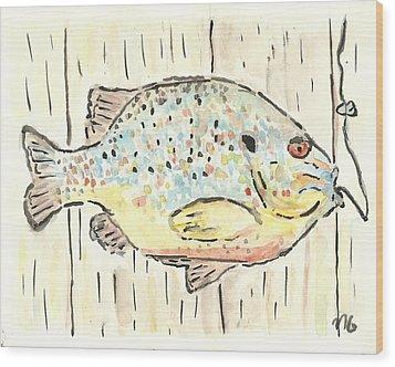 Pumpkinseed Sunfish Wood Print by Matt Gaudian