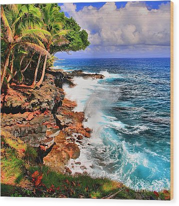 Wood Print featuring the photograph Puna Coast Hawaii by DJ Florek