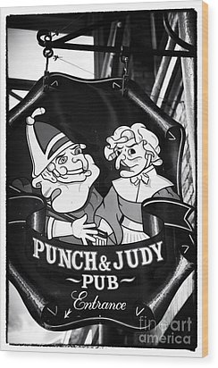 Punch And Judy Pub Wood Print by John Rizzuto