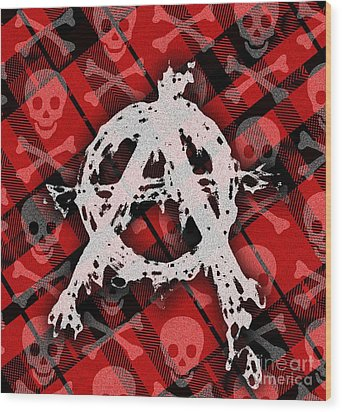 Punk Anarchy Wood Print by Roseanne Jones