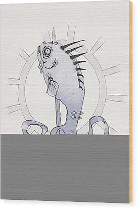Punk Fish Wood Print by Ethan Harris