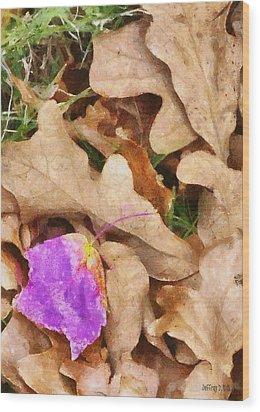 Punk Leaf Wood Print by Jeff Kolker