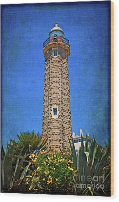 Wood Print featuring the photograph Punto Doncela Lighthouse by Mary Machare