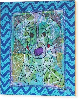 Pup Wood Print by Susan Sorrell