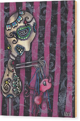 Puppet Master Wood Print by  Abril Andrade Griffith