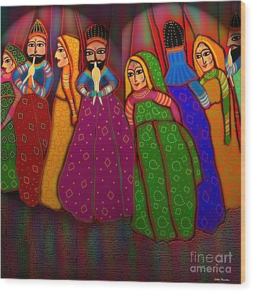 Puppet Show Wood Print by Latha Gokuldas Panicker