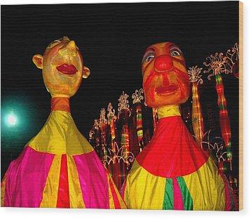 Puppets Wood Print by Fareeha Khawaja