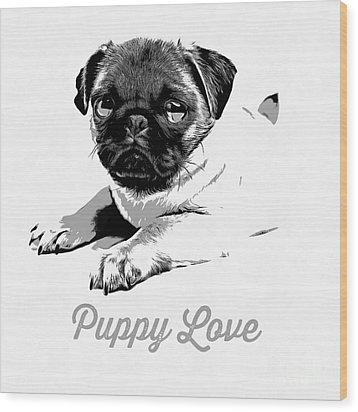 Puppy Love Wood Print by Edward Fielding