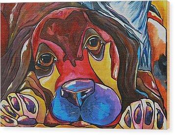 Puppy Love Wood Print by Patti Schermerhorn