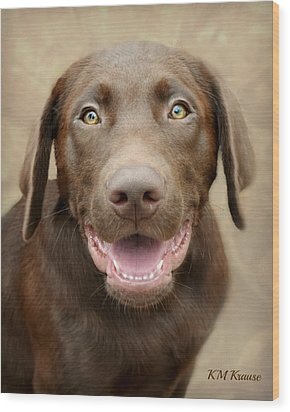 Puppy Power Wood Print by Kathy M Krause