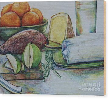 Purchases From The Farmers Market Wood Print by Anna Mize Bell
