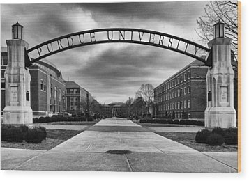 Purdue Entrance Sign Wood Print by Coby Cooper