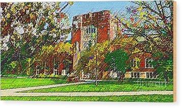 Purdue University Wood Print