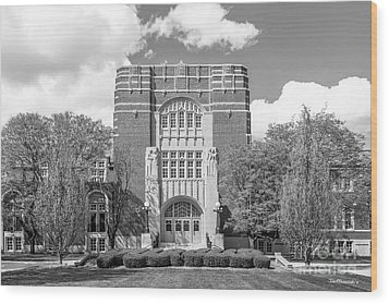 Purdue University Memorial Union Wood Print by University Icons