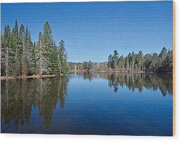 Wood Print featuring the photograph Pure Blue Waters 1772 by Michael Peychich