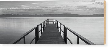 Wood Print featuring the photograph Pure State Of Mind Lake Tahoe Pier by Brad Scott