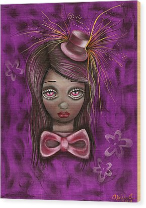 Purple Wood Print by  Abril Andrade Griffith