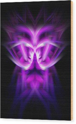 Purple Bug Wood Print by Cherie Duran