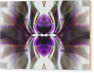Purple Butterfly Wood Print by Cherie Duran