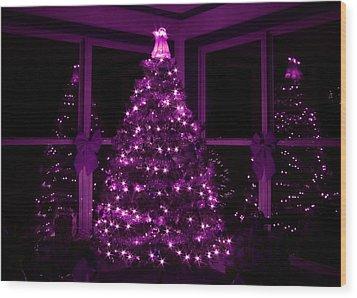 Purple Christmas Wood Print by Lori Deiter