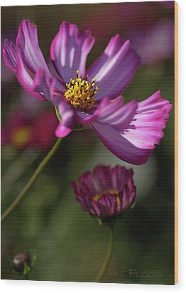 Wood Print featuring the photograph Purple Coleus by Michael Flood
