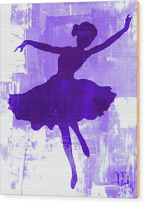 Purple Dancer Wood Print by Mindy Bench