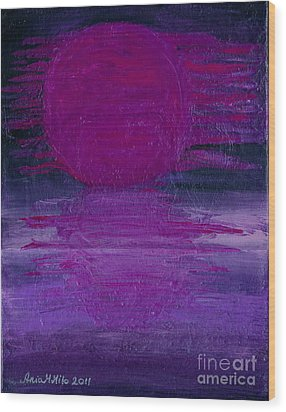 Wood Print featuring the painting Purple Dawn by Ania M Milo
