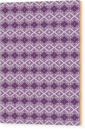 Wood Print featuring the digital art Purple Diamonds by Elizabeth Lock
