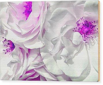 Purple Essence Wood Print