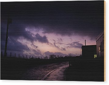Purple Evening Wood Print