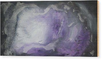 Purple Explosion By Madart Wood Print by Megan Duncanson