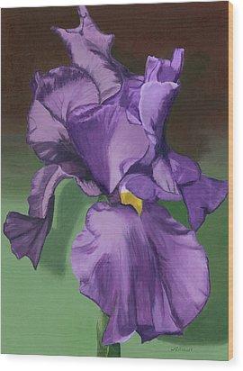 Purple Fantasy Wood Print by Lynne Reichhart