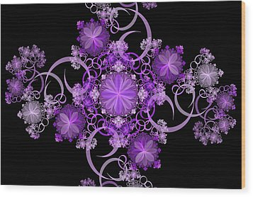 Wood Print featuring the photograph Purple Floral Celebration by Sandy Keeton