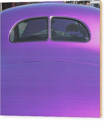 Purple Forty Wood Print