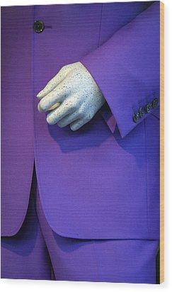 Purple Hand Purple Hand Wood Print by Jez C Self