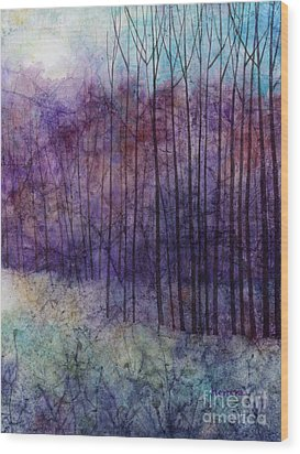 Wood Print featuring the painting Purple Haze by Hailey E Herrera