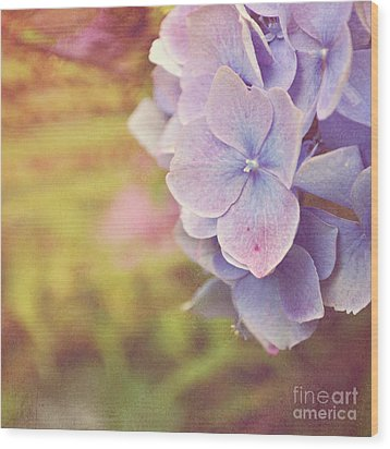 Wood Print featuring the photograph Purple Hydrangea by Lyn Randle
