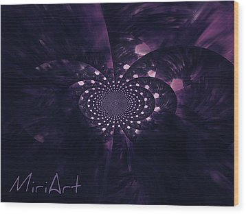Wood Print featuring the photograph Purple Intrigue by Miriam Shaw