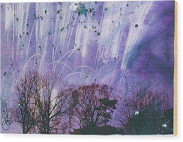 Purple Is The Color Of My True Love's Air Wood Print by Anne-Elizabeth Whiteway