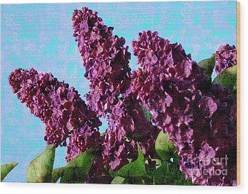 Purple Lilac 2 Wood Print by Jean Bernard Roussilhe