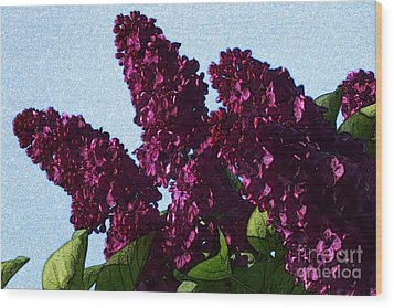 Purple Lilac 3 Wood Print by Jean Bernard Roussilhe