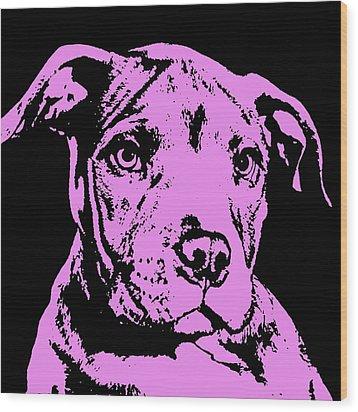 Purple Little Pittie Wood Print by Dean Russo